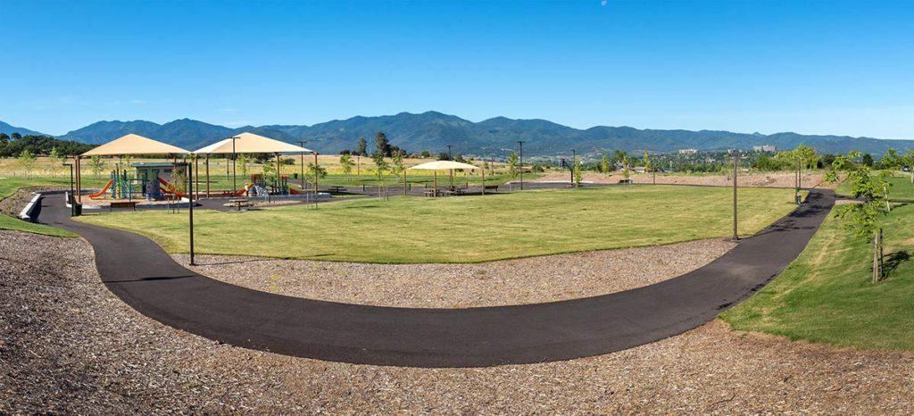 Village Center Park Wide Angle View